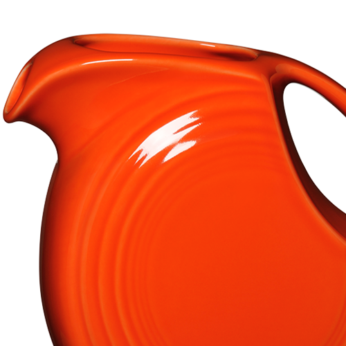 Fiesta Poppy Large Disk Ceramic Pitcher