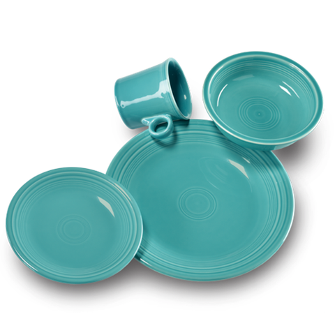 Fiesta Turquoise 4 Piece Place Setting