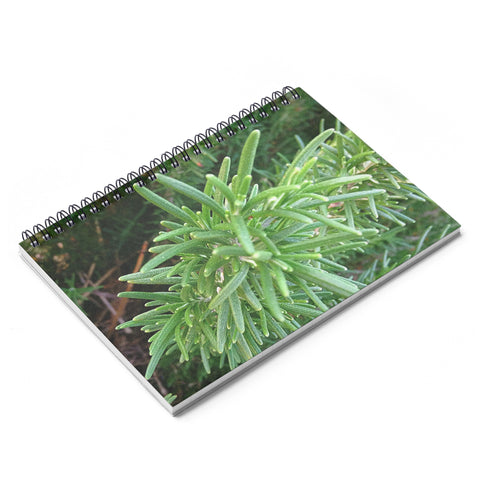Rosemary Spiral Planter's Notebook - Ruled Line