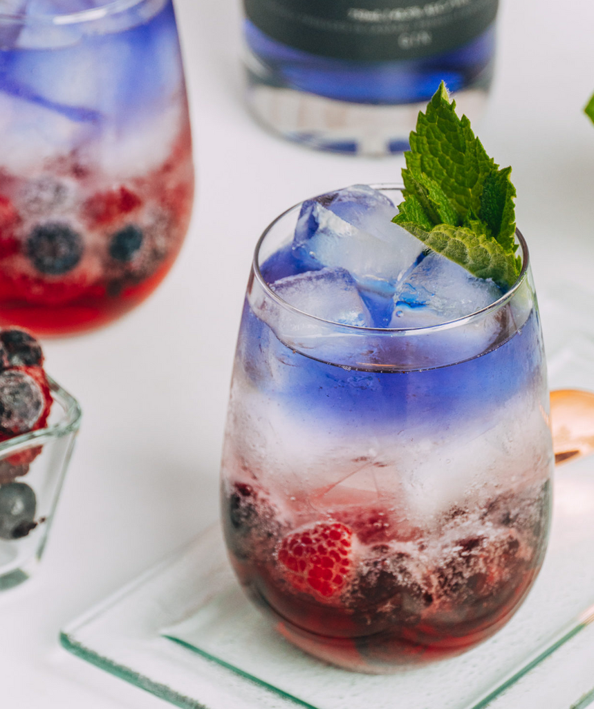 Cocktail Recipe: Red, White, & Blue Gin Spritz