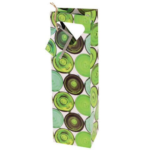 Green Bottles Wine Bag