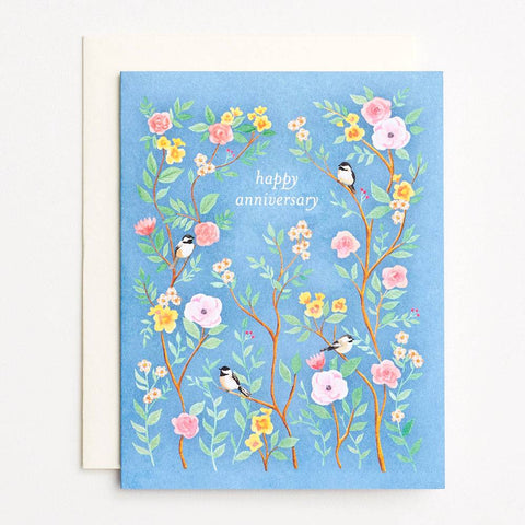 Waste Not Paper Chinoiserie Anniversary Card