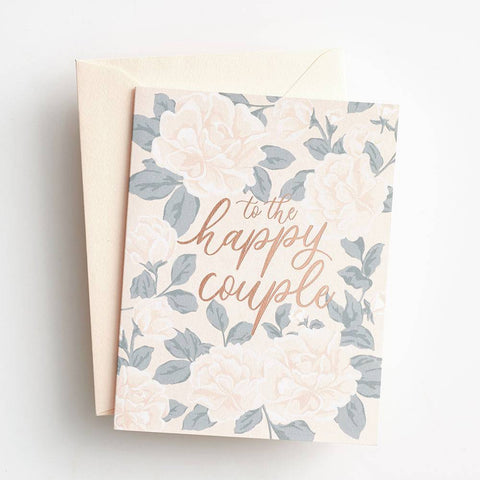 Waste Not Paper Happy Couple Floral Card