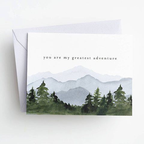 Waste Not Paper Greatest Adventure Mountains Card
