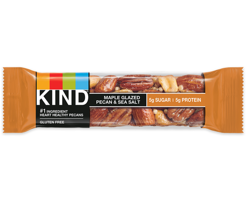 Kind Maple Glazed Pecans and Sea Salt Bar