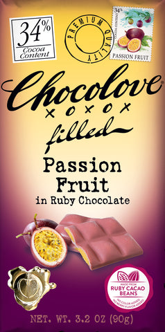 Chocolove Ruby Chocolate Passionfruit Filled
