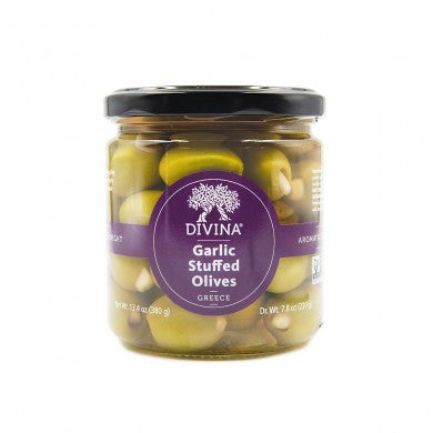 Divina Green Olives With Garlic