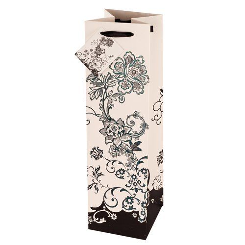 True Floral Chic Wine Gift Bag by Cakewalk