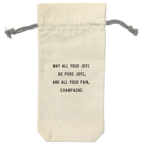 Sugarboo & Co. Wine Bag - May All of Your Joys