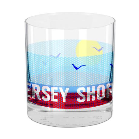 Jersey Shore Rocks Glass