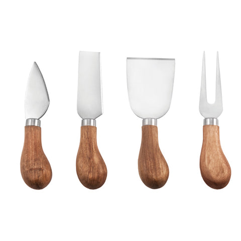 Twine Rustic Farmhouse Gourmet Cheese Knife Set (Set of 4)