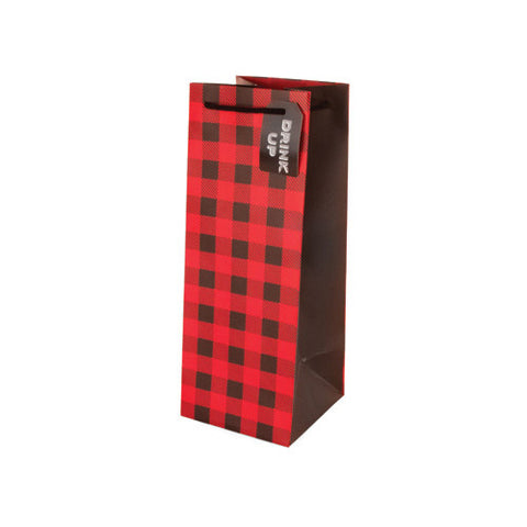 Plaid Liquor Bag