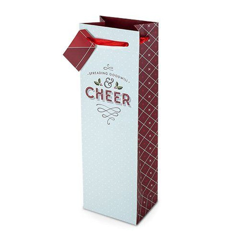 True Holiday Cheer Wine Gift Bag by Cakewalk