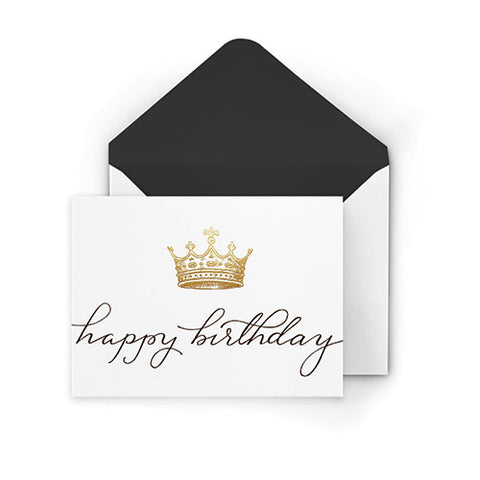 Happy Birthday Crown Greeting Card