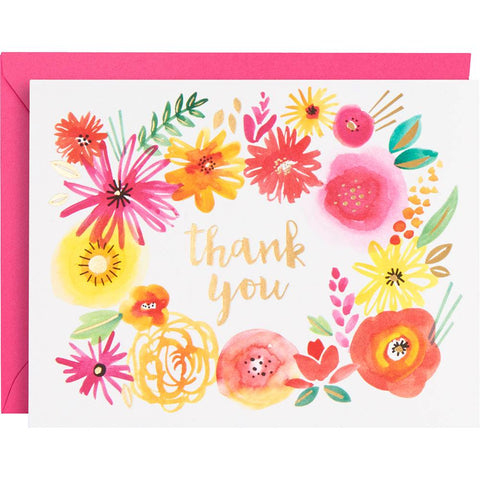 Waste Not Paper Wild Flower Thank You Card