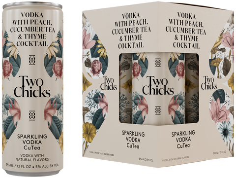 Two Chicks Sparkling Vodka Cutea - 4pk Cans