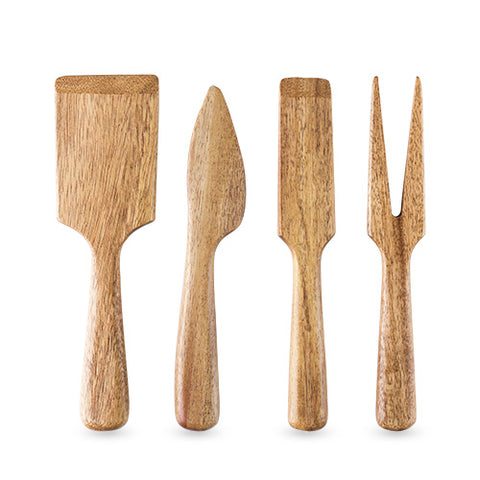 Country Home: Acacia Wood Cheese Set by Twine