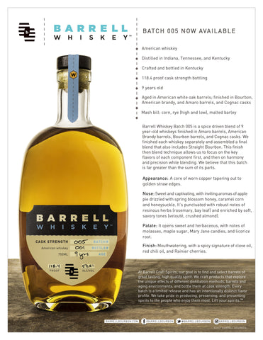 Barrel Craft Whiskey #5
