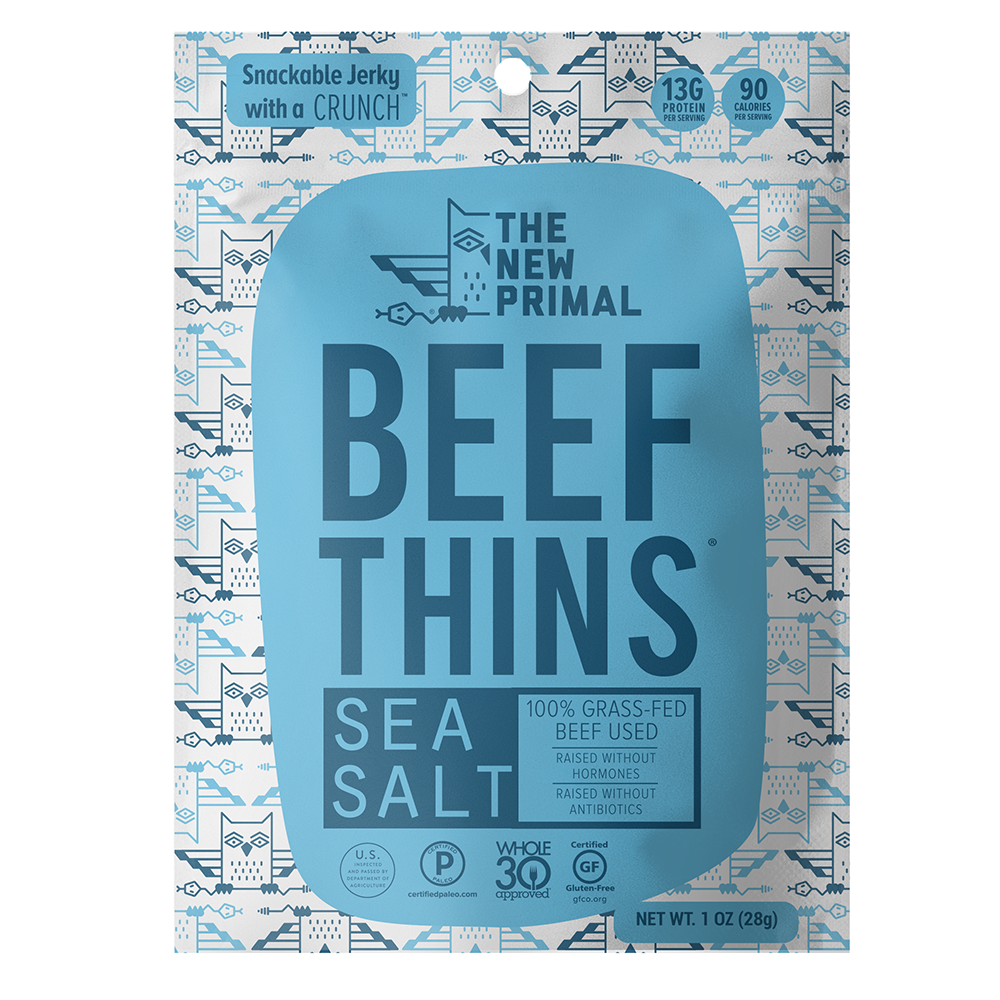 The New Primal Beef Thins - Sea Salt