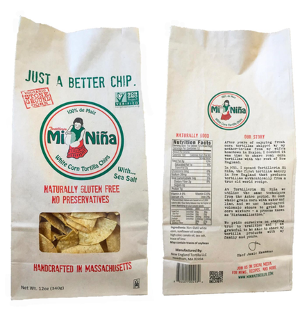 Mi Niña White Corn Tortilla Chip - Sea Salt