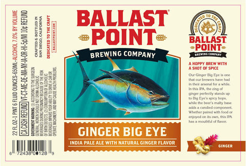 Ballast Point Ginger Big Eye 22Oz