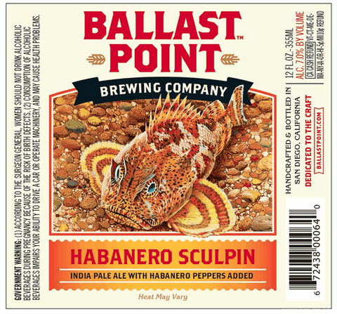 Ballast Point Habanero Sculpin Ipa 6Pk