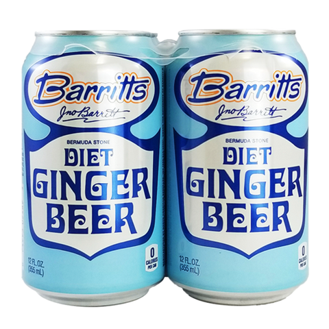 Barritts Diet Ginger Beer 4pk Can