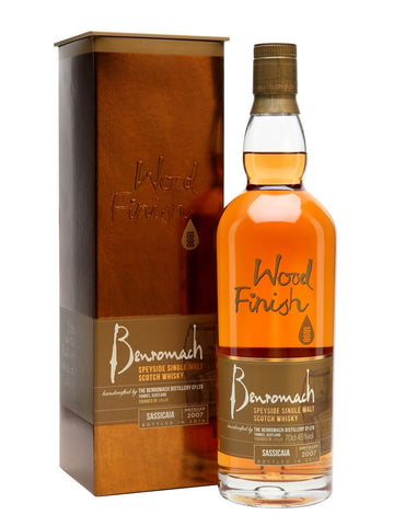 Benromach Sassica Wood Single Malt Scotch Whiskey 2007