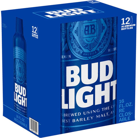 Bud Light Aluminum 16oz Bottles 12pk