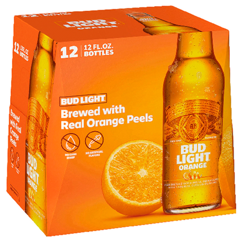 Bud Light Orange 12oz 12pk Bottles