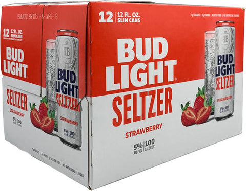 Bud Light Seltzer Strawberry 12pk Cans