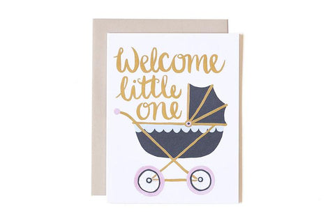 Welcome Little One Card by 1Canoe2