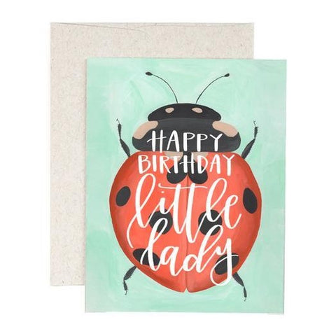 Happy Birthday, Little Lady Greeting Card