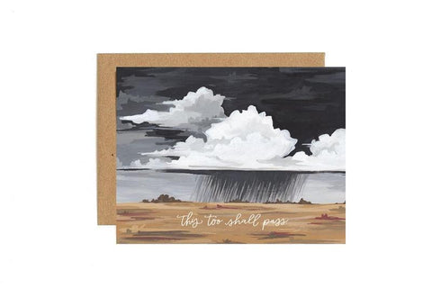 This Too Shall Pass Storm Sympathy Card