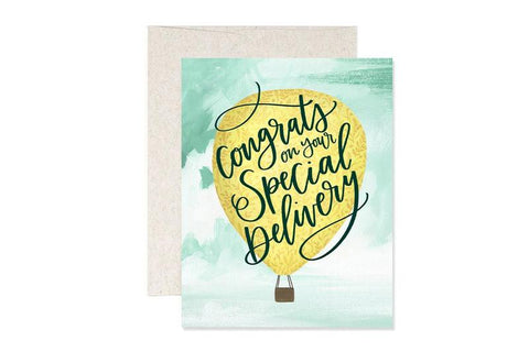Congrats on Your Special Delivery New Baby Card