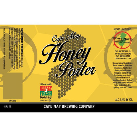 Cape May Brewing Honey Porter 6Pk