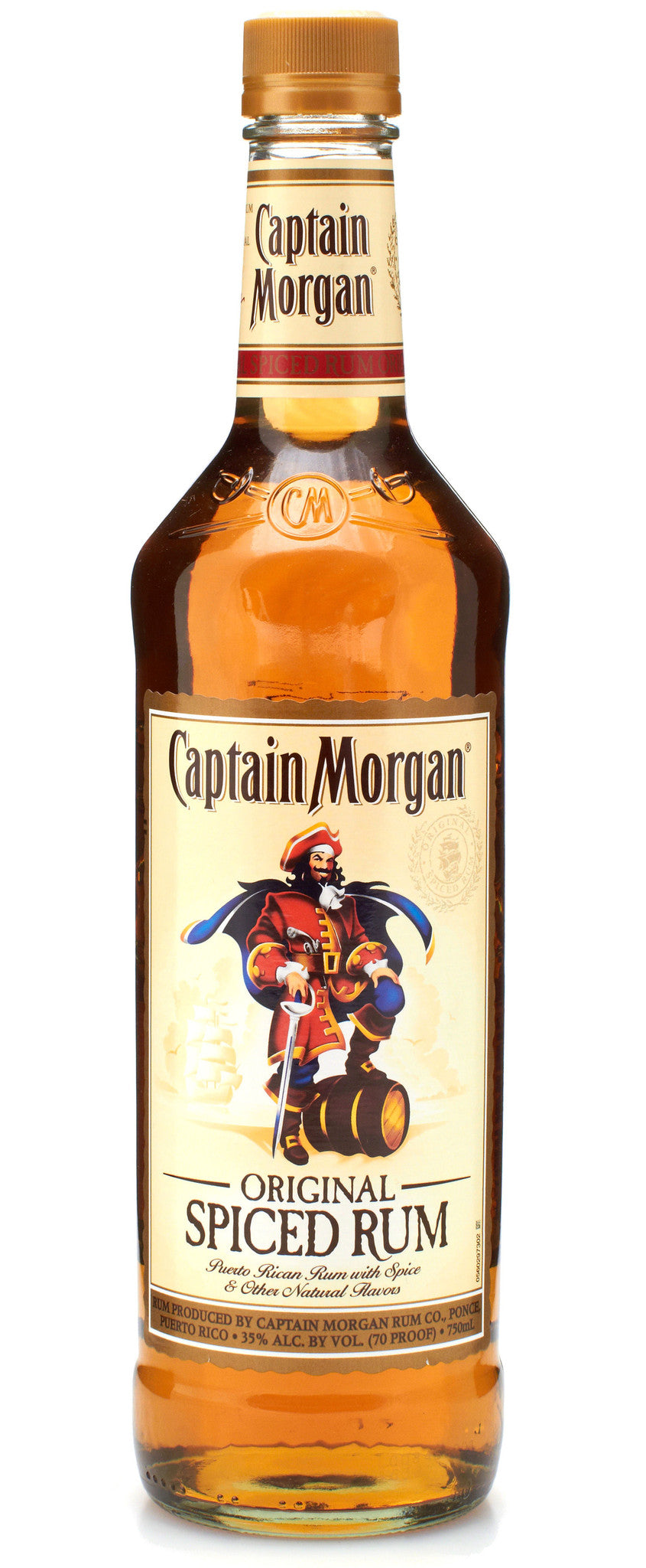 Captain morgan rum spiced 70 white horse wine and spirits for Mix spiced rum with