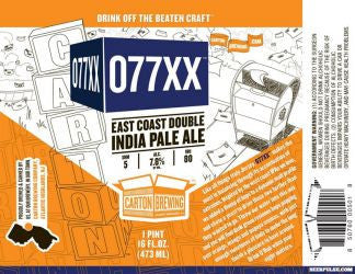 Carton Brewing 077 Double IPA 4pk Cans
