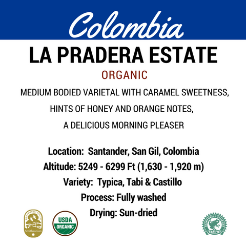 Boardwalk Beans Colombia Whole Bean 12oz