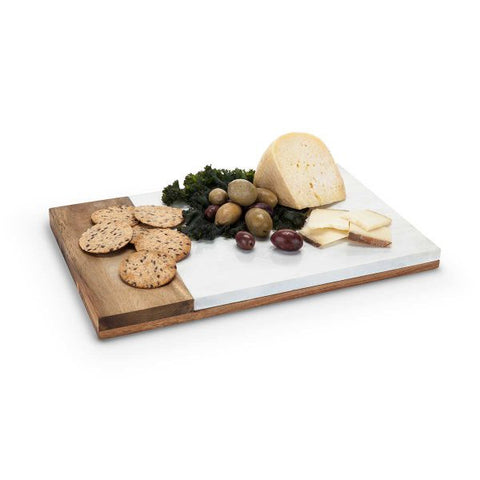 True Country Cottage Marble and Wood Cheese Board by Twine