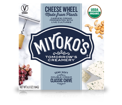 Miyoko's Classic Double Cream Chive Vegan Nut Cheese
