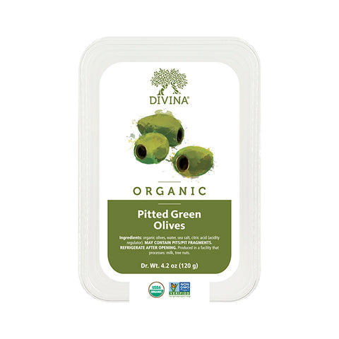 Organic Pitted Green Olives (Deli Cup)