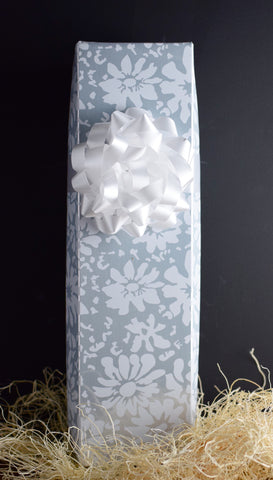 Wine Gift Box in White Floral