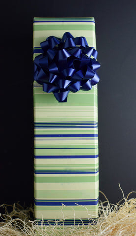 Wine Gift Box in Seaside Stripe