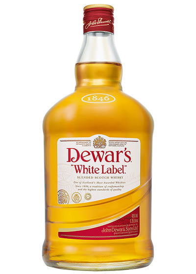 Dewars White Label Scotch Whiskey