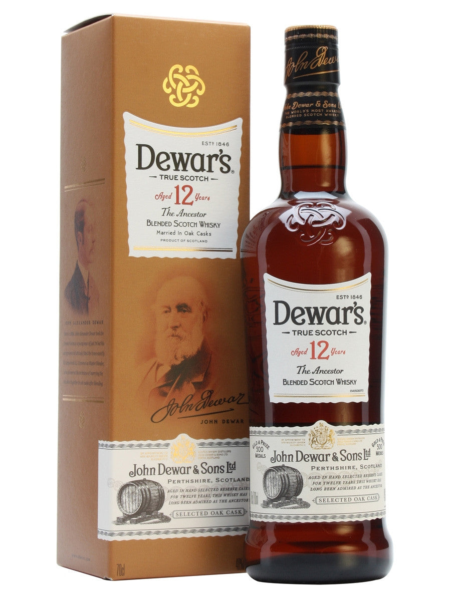 Dewars 12yr Scotch Whiskey