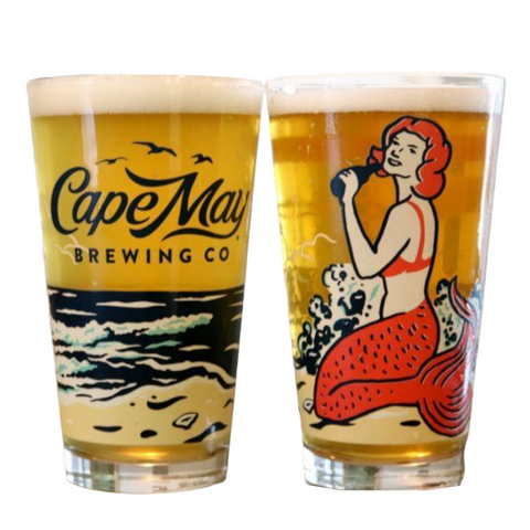 Cape May Brewing Mermaid Wrap Pint Glass (Single)