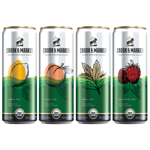 Crook & Marker Spiked Teas Variety Pack - 8PK Cans