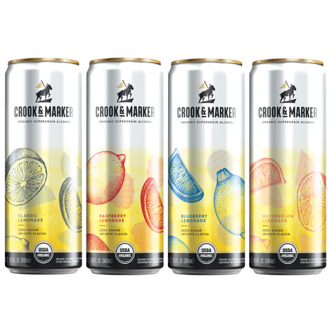 Crook & Marker Spiked Lemonade Variety - 8PK Cans
