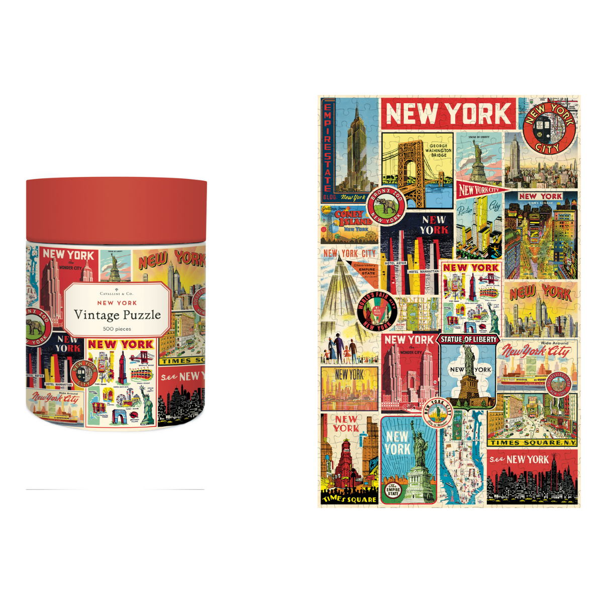 Cavallini & Co. NYC Collage 500 Piece Jigsaw Puzzle